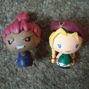 Street Fighter Akuma and Cammy Mystery Minis